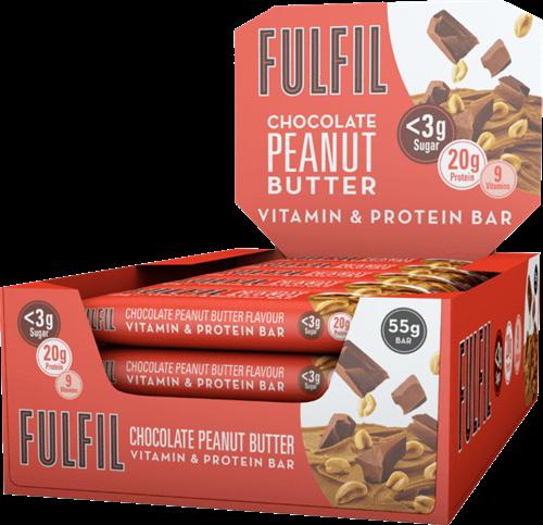 Fulfil Vitamin & Protein Bar Chocolate Peanut Butter (15 x 55 gr)