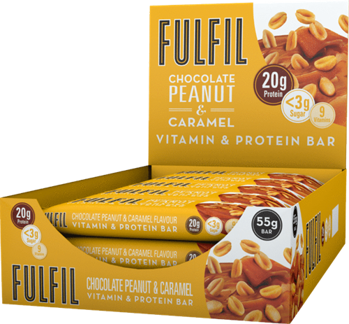 Fulfil Vitamin & Protein Bar Peanut & Caramel (15 x 55 gr)