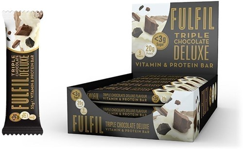 Fulfil Vitamin & Protein Bar Triple Chocolate Deluxe (1 x 55 gr)