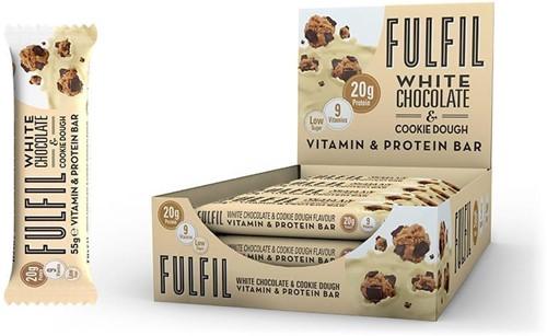 Fulfil Vitamin & Protein Bar White Chocolate & Cookie Dough (15 x 55 gr)