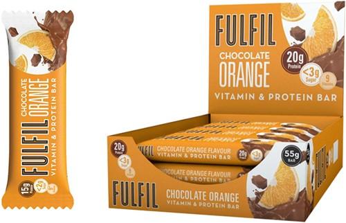Fulfil Vitamin & Protein Bar Chocolate Orange (15 x 55 gr)