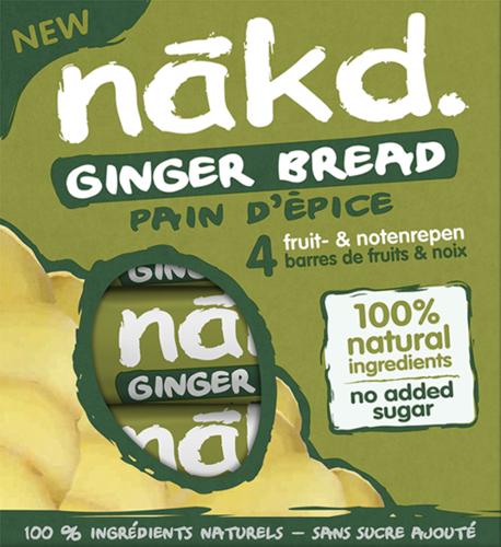 Nakd Bars Ginger Bread (4 x 35 gr)