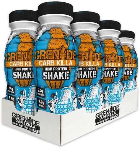 Carb Killa Shake Cookies & Cream (8 x 330 ml)