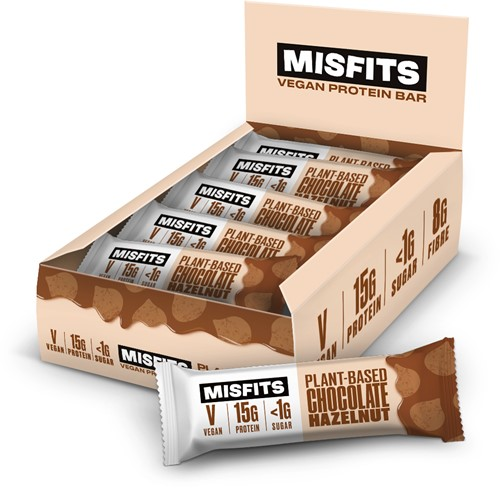 Misfits Vegan Protein Bar Chocolate Hazelnut (12 x 45 gr)