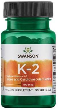 Swanson Natural Vitamin K2 100mcg (30 Softgels)