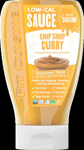 Applied Nutrition Fit Cuisine Low-Cal Sauce Chip Shop Curry (425 ml)