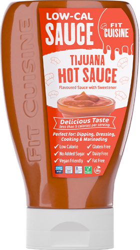 Applied Nutrition Fit Cuisine Low-Cal Sauce Tijuana Hot Sauce (425 ml)