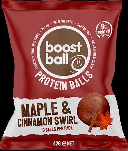 Boostball Protein Balls Maple & Cinnamon Swirl (12 x 42 gr)
