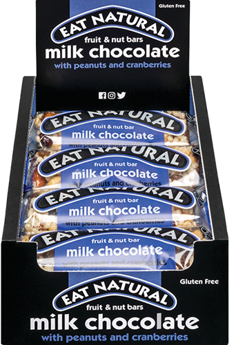 Eat Natural Fruit & Nut Bar Milk Chocolate (12 x 45 gr)