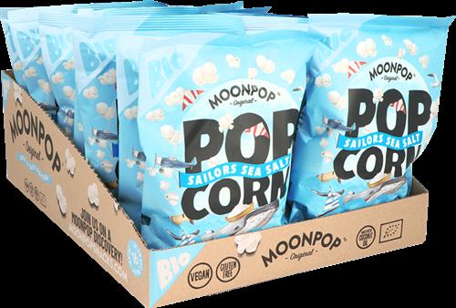 Moonpop Popcorn Sea Salt (16 x 25 gr)