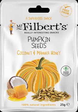 Mr Filberts Pumpkin Seeds Coconut & Manuka Honey (1 x 25 gr)