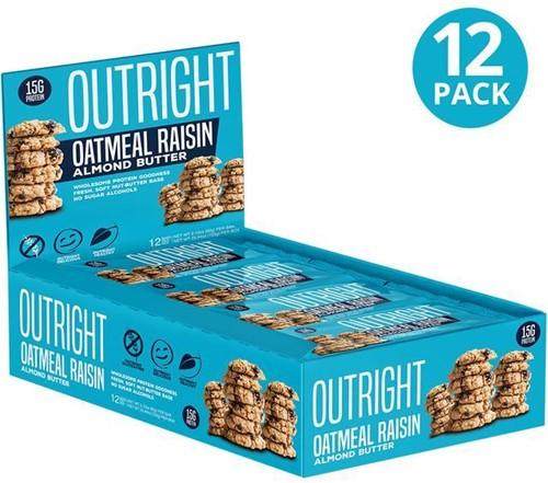MTS Outright Bar Oatmeal Raisin Almond Butter (12 x 60 gr) Ten minste houdbaar tot 18-11-2020!