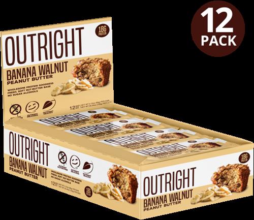MTS Outright Bar Banana Walnut Peanut Butter (12 x 60 gr) Ten minste houdbaar tot 18-11-2020!
