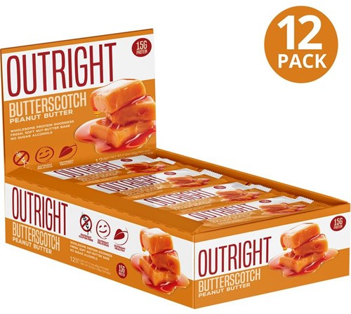 MTS Outright Bar Butterscotch Peanut Butter (12 x 60 gr) Ten minste houdbaar tot 18-11-2020!