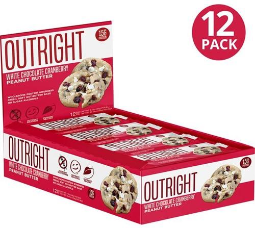 MTS Outright Bar White Chocolate Cranberry Peanut Butter (12 x 60 gr) Ten minste houdbaar tot 18-11-2020!
