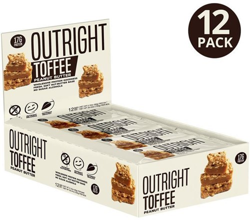 MTS Outright Bar Toffee Peanut (12 x 60 gr)