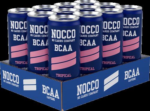 Nocco BCAA Tropical (12 x 330 ml) Ten minste houdbaar tot: 3-2021