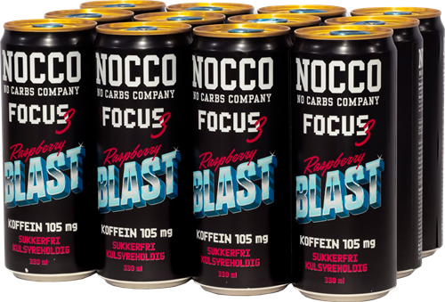 Nocco Focus Raspberry (12 x 330ml)
