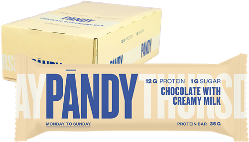 Pandy Protein Bar Chocolate with Creamy Milk (18 x 35 gr)