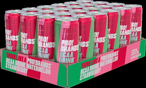 AminoPro Drink Watermelon Strawberry (24 x 330 ml)