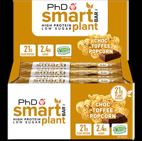 PhD Smart Bars Plant Choc Toffee Popcorn (12 x 64 gr)