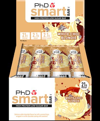 PhD Smart Bars White Choc Blondie (12 x 64 gr)