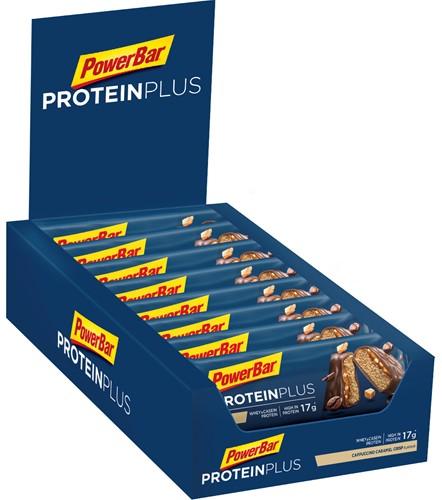 Protein Plus Bar 30% Cappuccino-Caramel Crisp (15 x 55 gr) Ten minste houdbaar tot: 12-2020