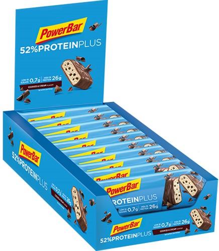 Protein Plus Bar 52% Cookies & Cream (20 x 50 gr) Ten minste houdbaar tot: 12-2020