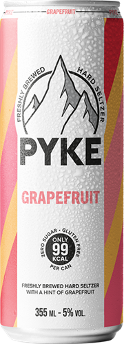Pyke Hard Seltzer Grapefruit (1 x 355 ml)