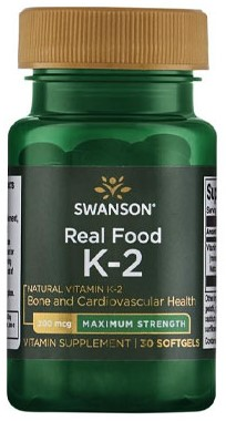 Swanson Real Food Vitamine K2 200mcg (30 Softgels)