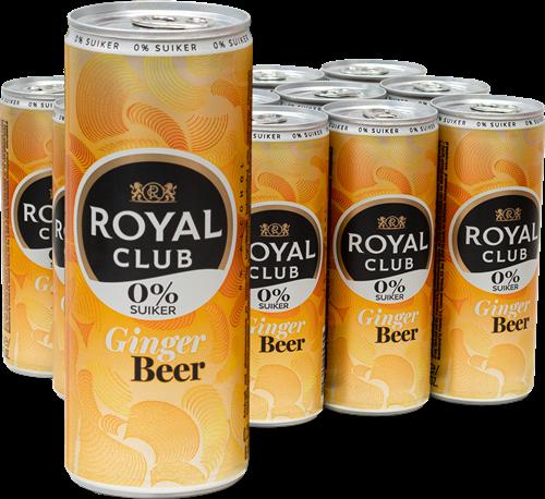 Royal Club Ginger Beer 0% (12 x 250 ml)