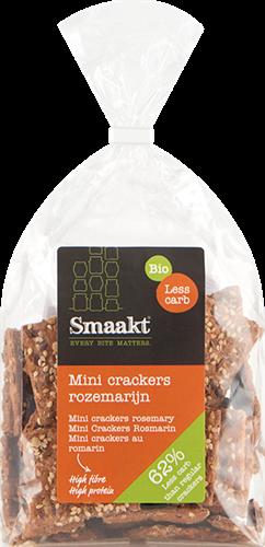Smaakt Less Carb Mini Crackers Rozemarijn (200 gr)