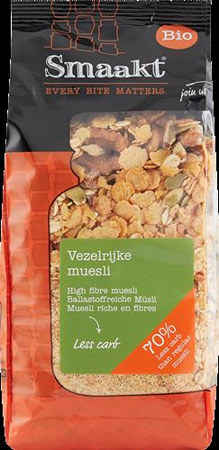 Smaakt Less Carb Vezelrijke Muesli (500 gr)