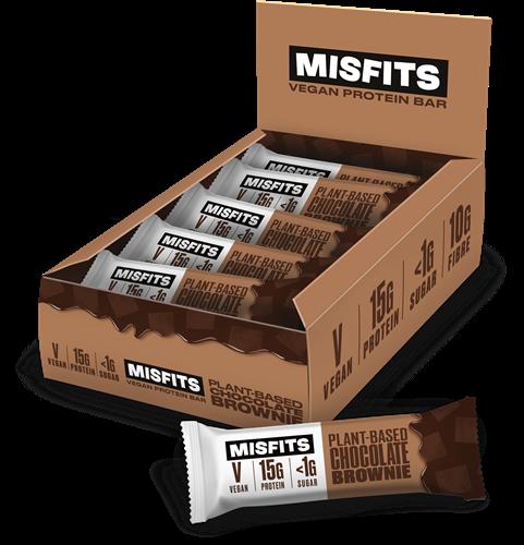 Misfits Vegan Protein Bar Chocolate Brownie (12 x 45 gr)