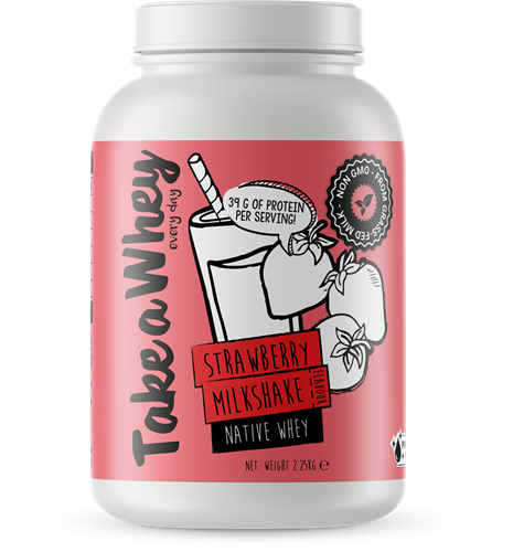 Take-a-whey Native Whey Strawberry Milkshake (2250 gr)