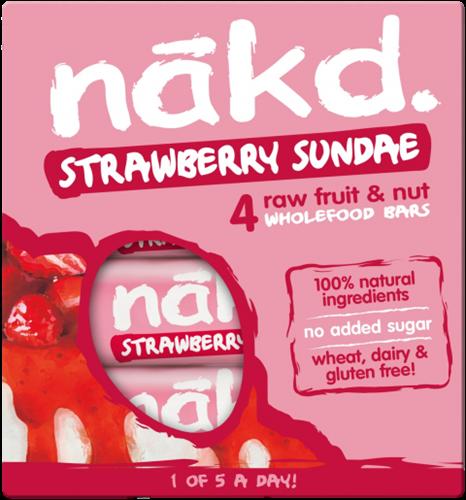 Nakd Bars Strawberry Sundae (4 x 35 gr)