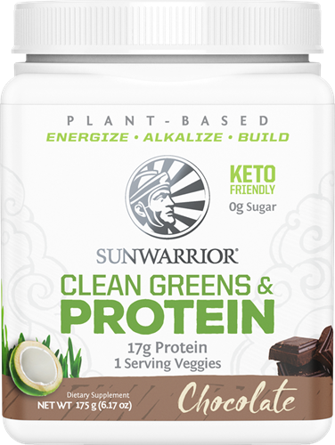 Sunwarrior Clean Greens & Protein Chocolate (175 gr)