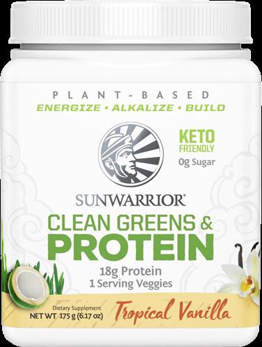 Sunwarrior Clean Greens & Protein Tropical Vanilla (175 gr)