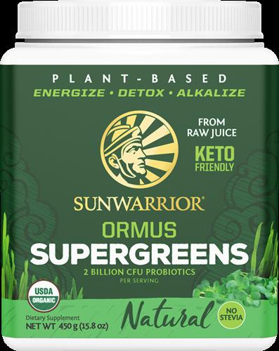 Sunwarrior Ormus Super Greens Natural (450 gr)