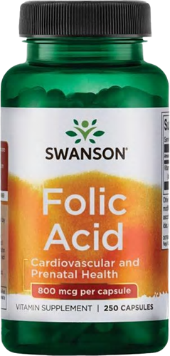 Swanson Folic Acid 800MCG (250 caps)