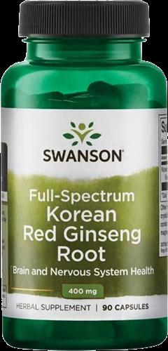 Swanson Full Spectrum Korean Red Ginseng 400MG (90 caps)
