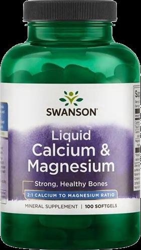 Swanson Liquid Calcium & Magnesium (100 softgels)