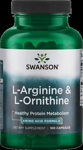 Swanson L-Arginine & L-Ornithine (100 caps)