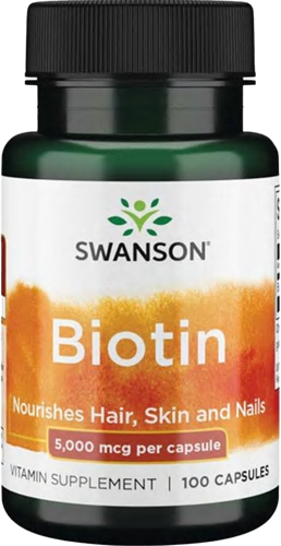 Swanson Biotin 5000MCG (100 caps)