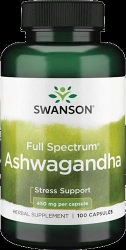 Swanson Full Spectrum Ashwagandha 450MG (100 caps)
