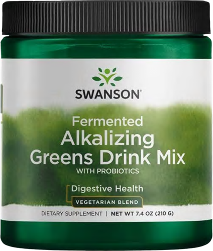 Swanson Fermented Alkalizing Greens Drink Mix with Probiotics (210 gr)
