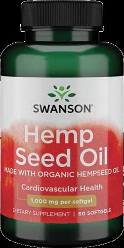Swanson Hemp Seed Oil (60 softgels)