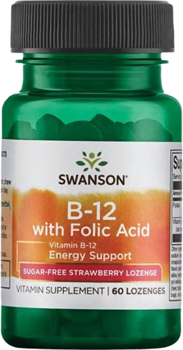 Swanson Vitamin B12 with Folate (60 lozenges)