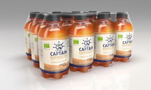 Captain Kombucha Ginger Lemon (12 x 400 ml)