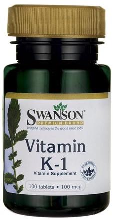Swanson Vitamine K1 100mcg (100 tabs)